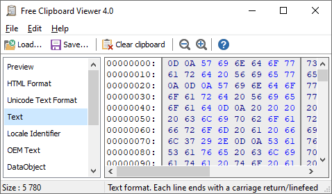 Windows Clipboard Viewer
